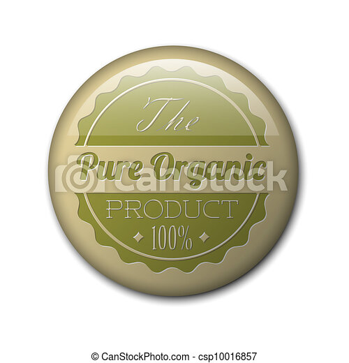 Old vector round retro vintage grunge badge for organic product - csp10016857