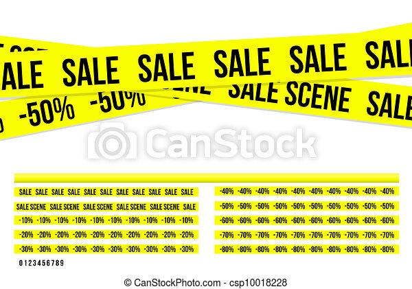 Criminal sale ribbons - csp10018228