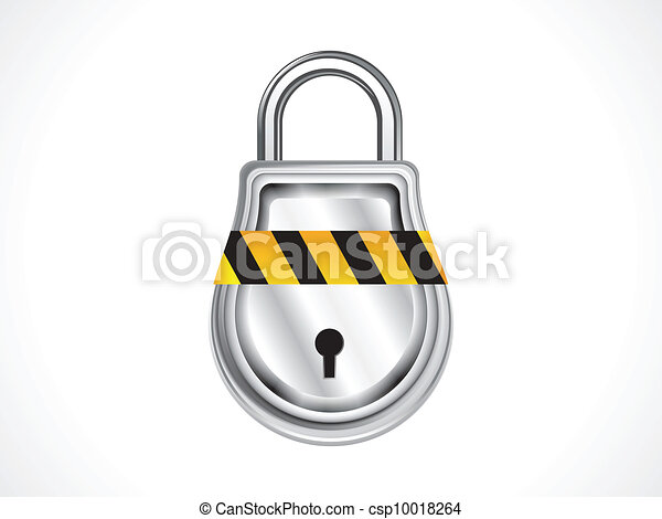 abstract shiny pad lock icon vector - csp10018264