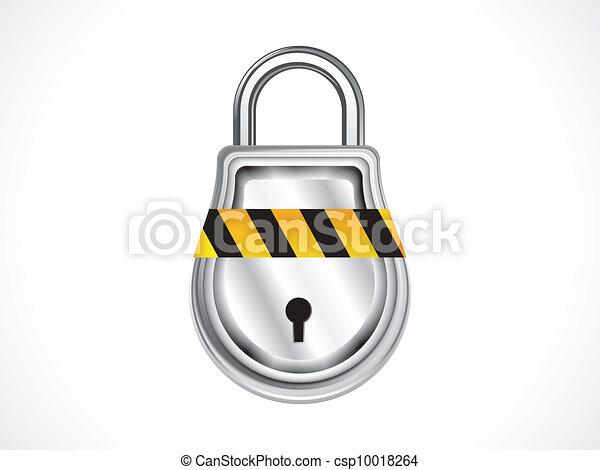 abstract shiny pad lock icon vector - csp10018264
