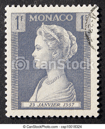 Monaco 1F Grace Kelly Stamp - csp10018324