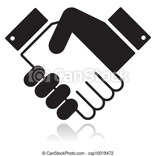 Icon With Shaking Hands