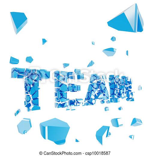 Broken team metaphor, smashed word explosion - csp10018587