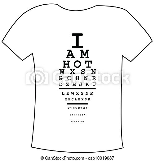 T-shirts template with I am hot message - csp10019087