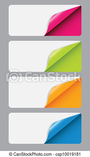 Banners with different corner and place for your text. vector illustration - csp10019181