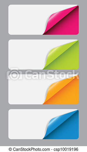 Banners with different corner and place for your text. vector illustration - csp10019196