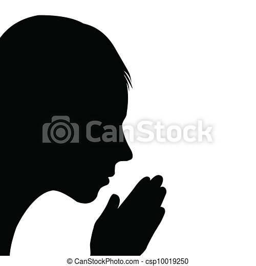 Woman Praying Clipart Child Praying Clipart Vector