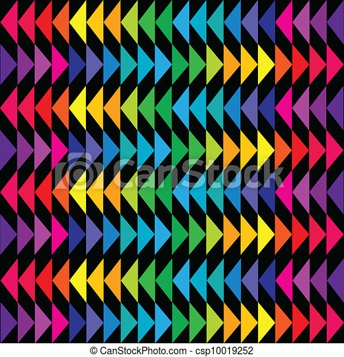Colored triangle background in bright tones - csp10019252