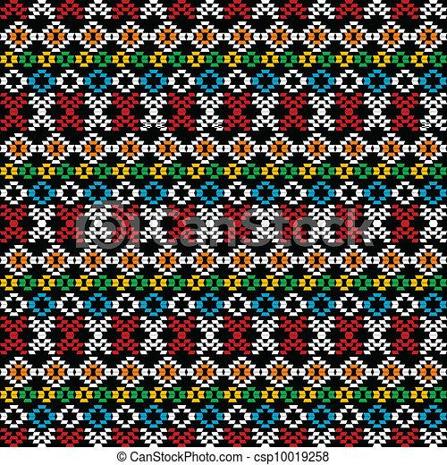 Vecteur clipart de ethnique moquette seamless fond for Moquette geometrique