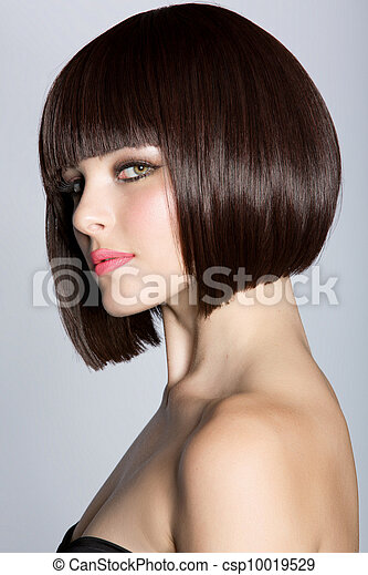 profile of a beautiful woman with s - csp10019529