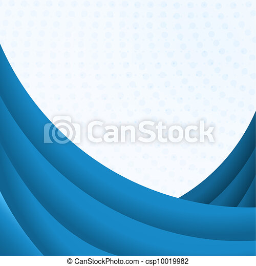 Blue curves background with white copy space. - csp10019982