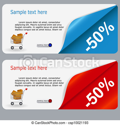 Sale banner with place for your text. vector illustration - csp10021193