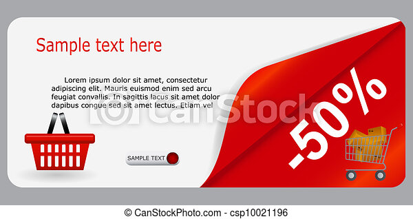 Sale banner with place for your text. vector illustration - csp10021196