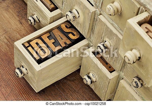 ideas or brainstorming concept - csp10021258