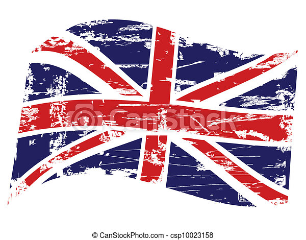 Grunge United Kingdom flag - csp10023158