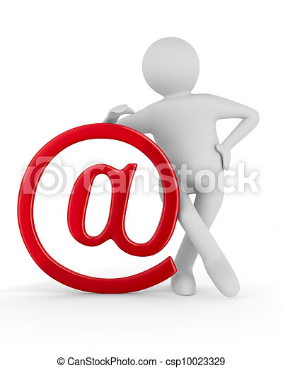 E-mail concept on white background. Isolated 3D image - csp10023329
