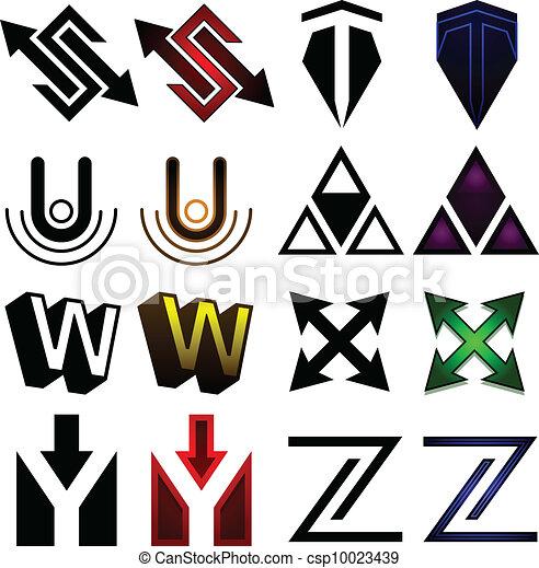 Superhero or athletics symbols s-z - csp10023439