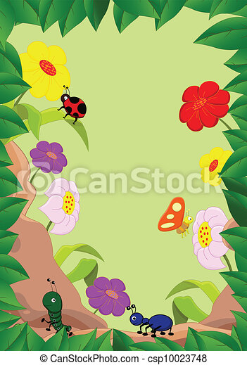 illustration of a family of insects - csp10023748