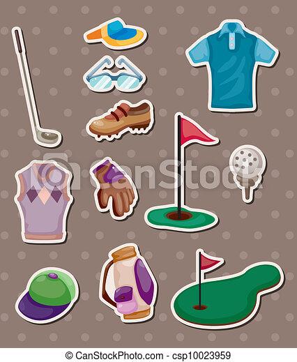 golf stickers - csp10023959