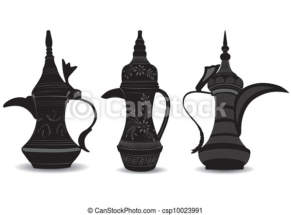 Arabic Coffee Pot - Dallah - Vector - csp10023991