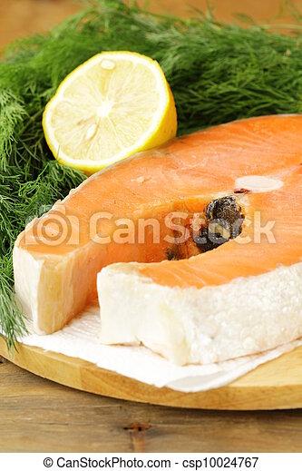 red delicatessen  fish  salmon  - csp10024767