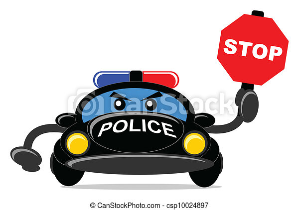 Car Cartoons Cartoon Police Car