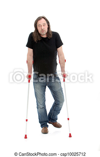 Unhappy injured or disabled man - csp10025712