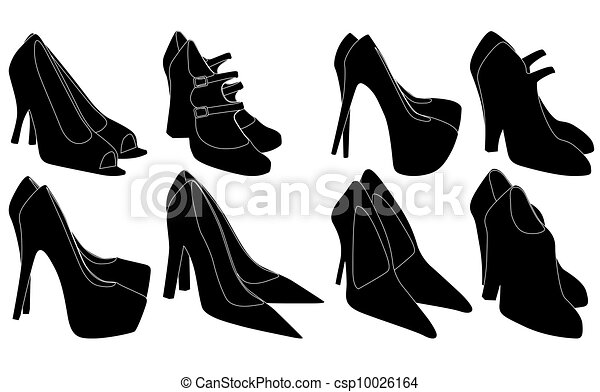 Icon Set Of Men's And Of Women's Shoes Stock Vector - Image: 40551022