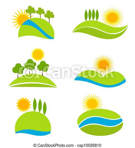 iconos paisajes: