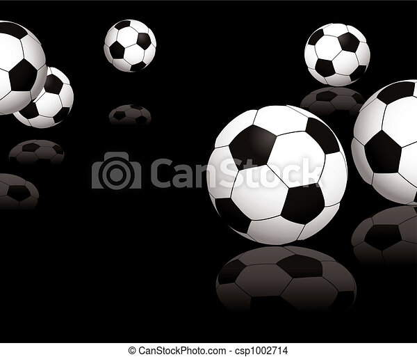 football reflect black - csp1002714