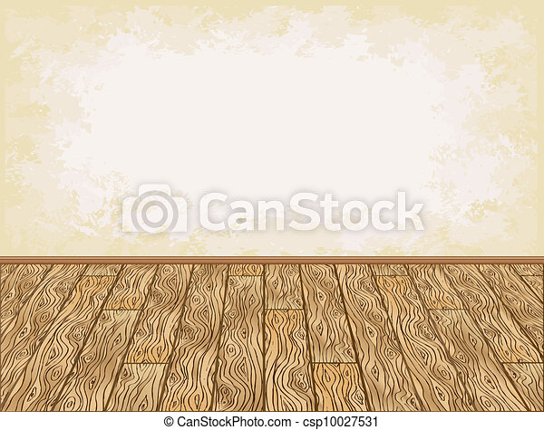 Wooden floor background - csp10027531