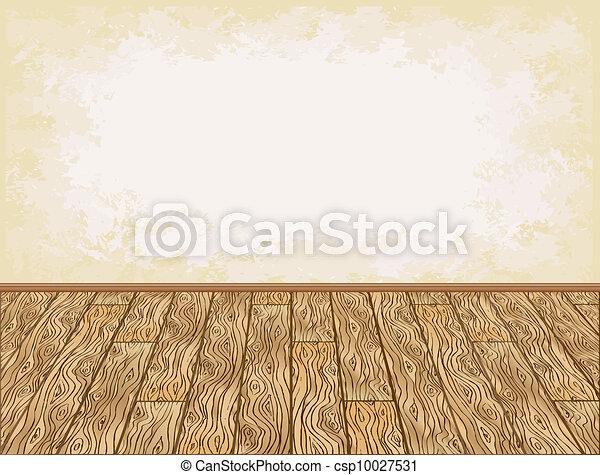 Wooden floor background - csp10027531