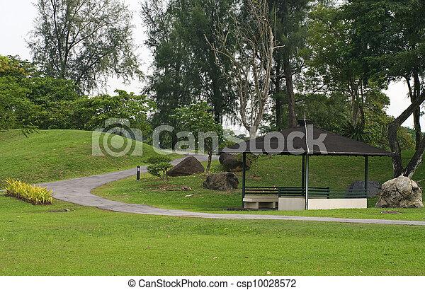 Japanese garden landscape in Singapore  - csp10028572