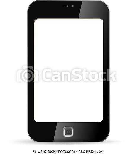 Touchscreen phone. Blank. - csp10028724