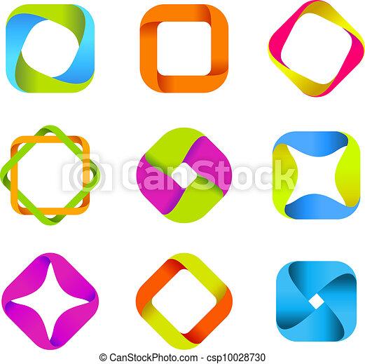 Logos quad-loops collection - csp10028730