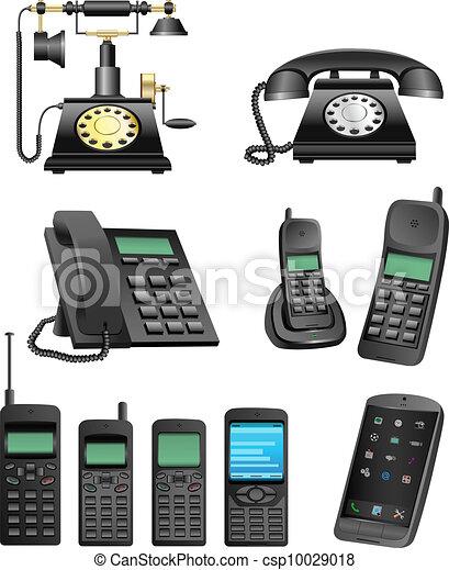 phone evolution - csp10029018