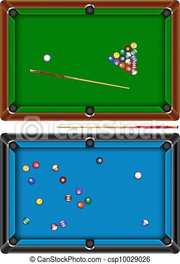 Vector Illustration Of Billiard Table The Billiard Table