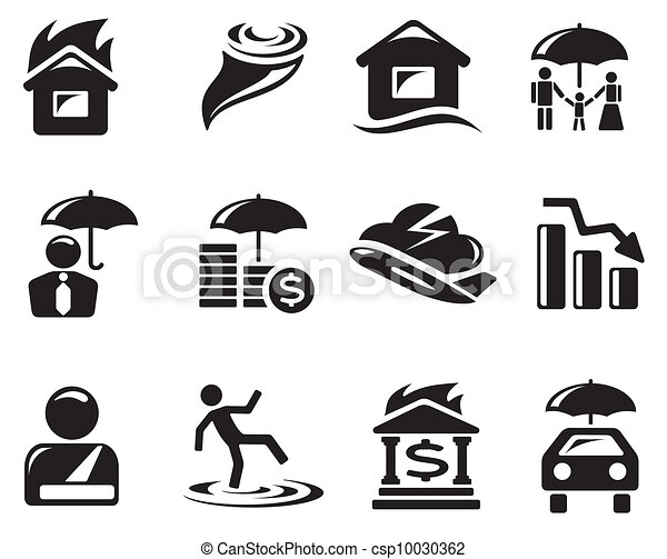 Insurance icons - csp10030362