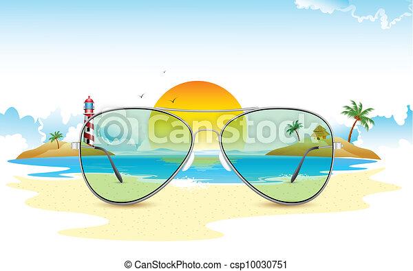 Sea View through Sun Glasses - csp10030751