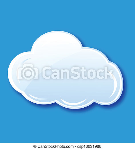 Cloud icon element vector  - csp10031988