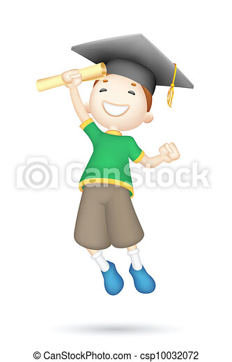 3d Boy with Mortar Board - csp10032072
