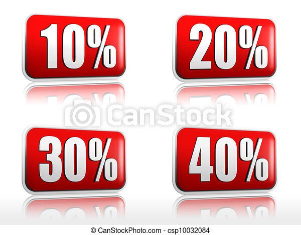 10 20 30 40 percents - csp10032084