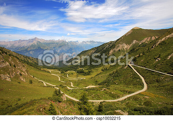 Unpaved road among mountains. - csp10032215