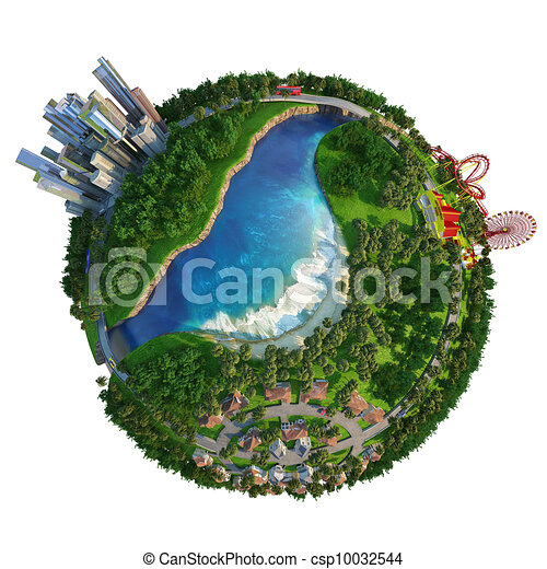 concept globe for home, work and leisure time - csp10032544