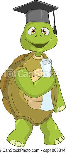 Funny Turtle. Student. - csp10033143
