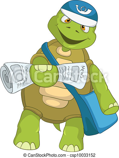 Vecteur clipart de rigolote tortue facteur dessin - Image tortue rigolote ...