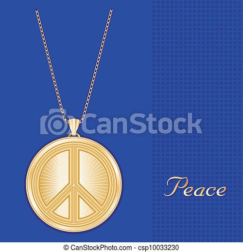 Peace Symbol Pendant Necklace Chain - csp10033230