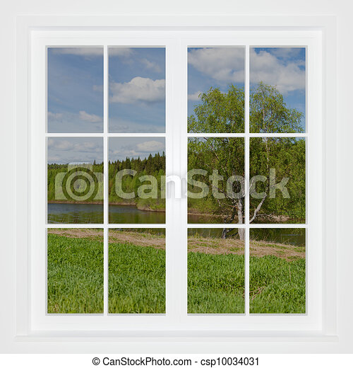Dessins de t paysage derri re a fen tre 3d image for Fenster 800x800