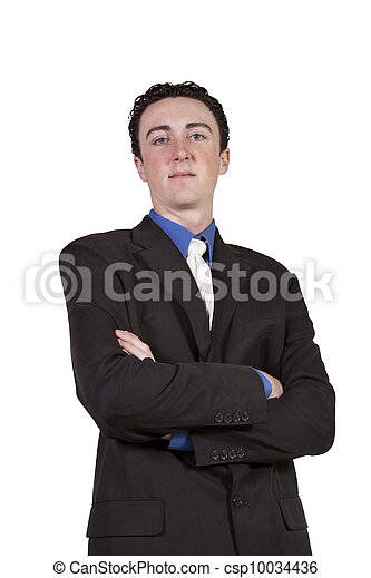 Close up of  well dressed  businessman with crossed arms - csp10034436