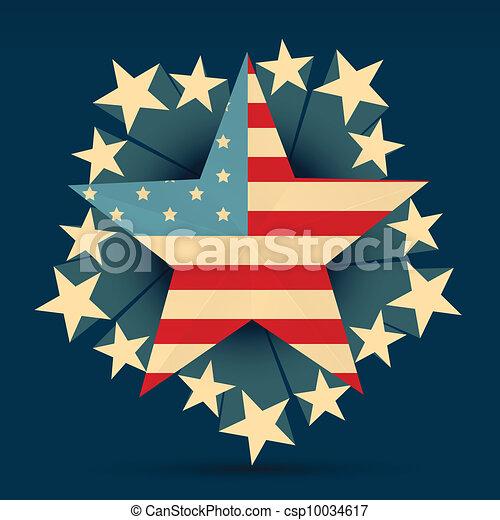 creative american flag - csp10034617